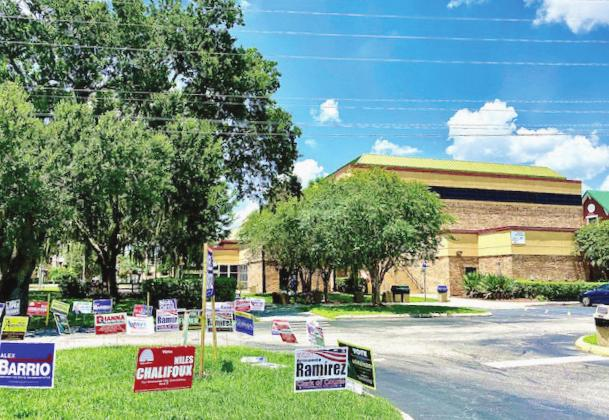 The Kissimmee Civic Center is just one of the polling stations in Osceola County where residents can vote. NEWS-GAZETTE PHOTO/BRIAN MCBRIDE
