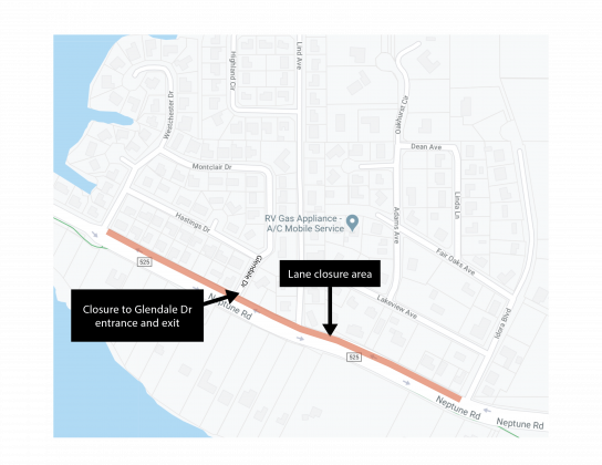 Map of Neptune Road sewer project