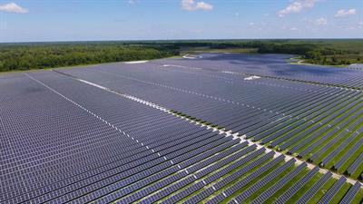 Solar farm in Harmony.