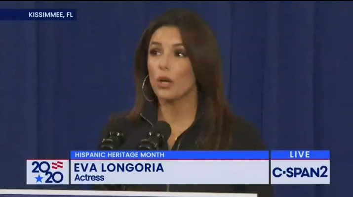 Eva Longoria took to the stage as well.