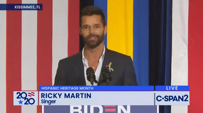 Ricky Martin was at the event.