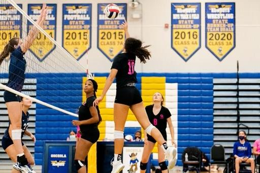 Sophomore Kaitlyn Taylor (10), paced Osceola to a Class 7A FHSAA Regional Finals, is the Osceola News Gazette's Player of the Year. PHOTO COURTESY OF OSCEOLA VOLLEYBALL