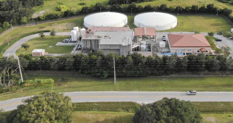 Here is an aerial shot of St. Cloud water plant No. 4. The water issues started at the plant after polishing filters fractured. PHOTO/CITY OF ST. CLOUD